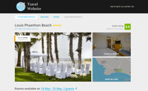 Search Hotels Page